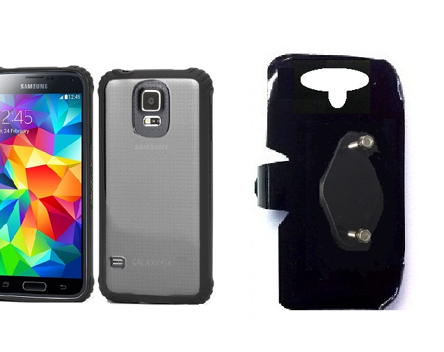 SlipGrip RAM-HOL Holder For Samsung Galaxy S5 i9600 Using Griffin Survivor Clear Case