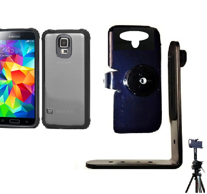 SlipGrip Tripod Mount For Samsung Galaxy S5 i9600 Using Griffin Survivor Clear Case