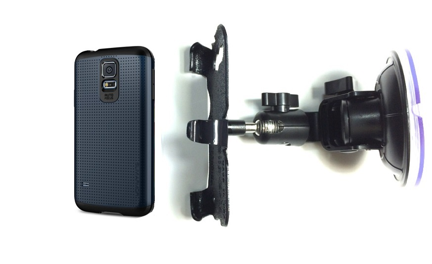SlipGrip Car Holder For Samsung Galaxy S5 i9600 Using Spigen Slim Armor Case DT