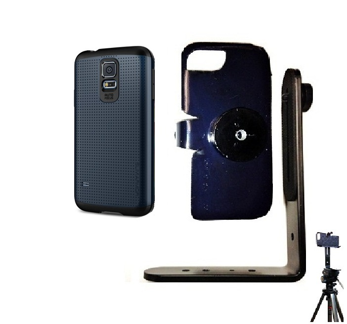 SlipGrip Tripod Mount For Samsung Galaxy S5 i9600 Using Spigen Slim Armor Case