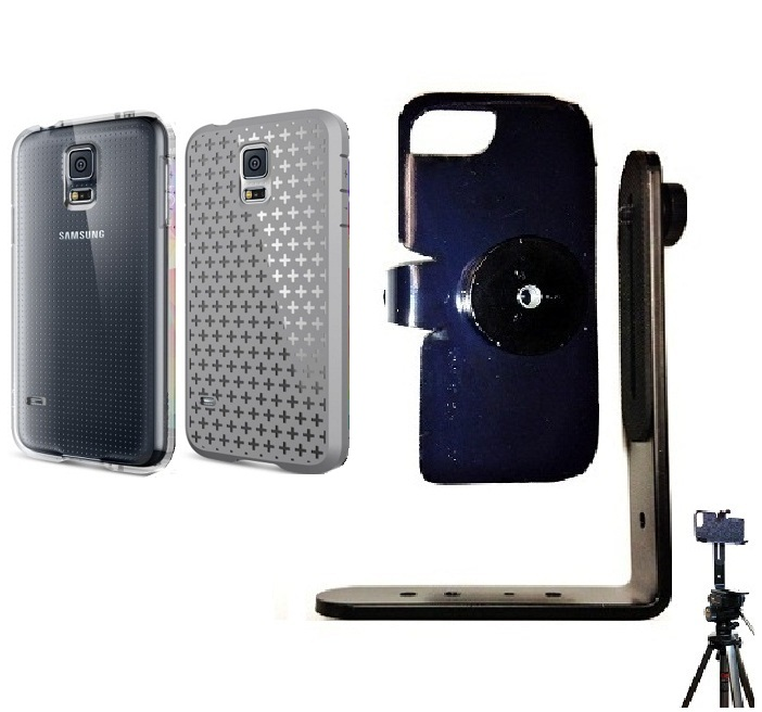 SlipGrip Tripod Mount For Samsung Galaxy S5 i9600 Using Spigen Ultra Fit Capsule Case