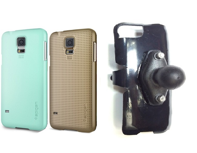 SlipGrip RAM Holder For Samsung Galaxy S5 i9600 Using Spigen Ultra Fit Case