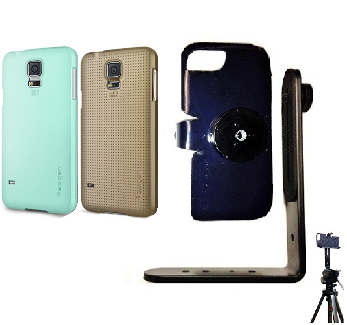SlipGrip Tripod Mount For Samsung Galaxy S5 i9600 Using Spigen Ultra Fit Case