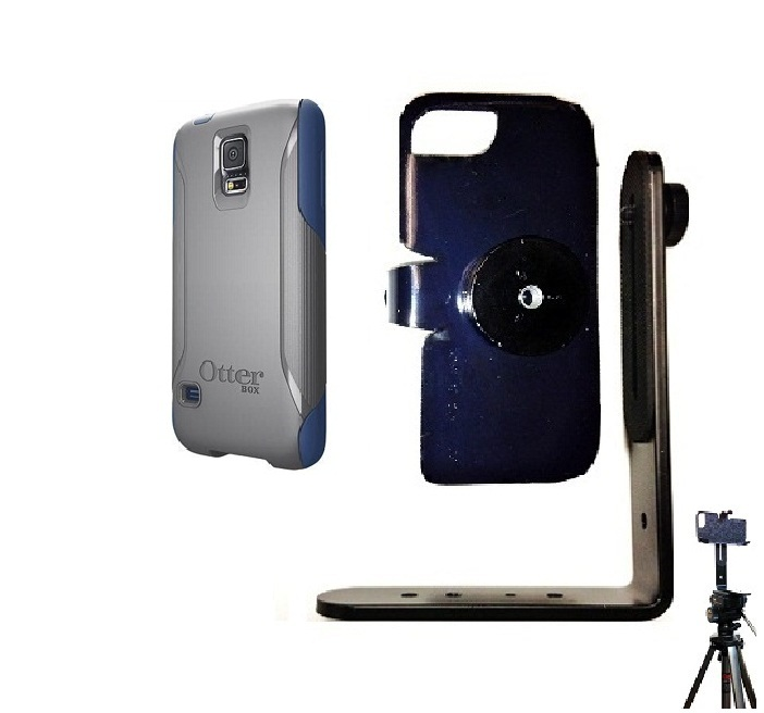 SlipGrip Tripod Mount For Samsung Galaxy S5 i9600 Using Otterbox Commuter Case