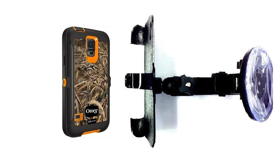 SlipGrip Car Holder For Samsung Galaxy S5 i9600 Using Otterbox Defender RealTree Case HV