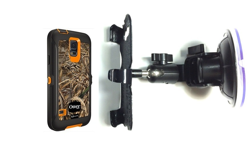 SlipGrip Car Holder For Samsung Galaxy S5 i9600 Using Otterbox Defender RealTree Case DT