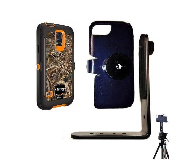 SlipGrip Tripod Mount For Samsung Galaxy S5 i9600 Using Otterbox Defender RealTree Case