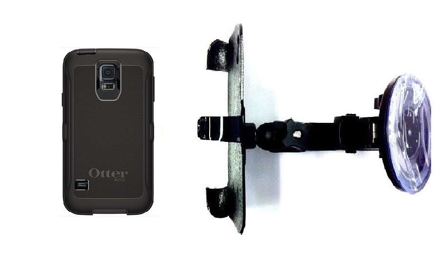 SlipGrip Car Holder For Samsung Galaxy S5 i9600 Using Otterbox Defender Case HV
