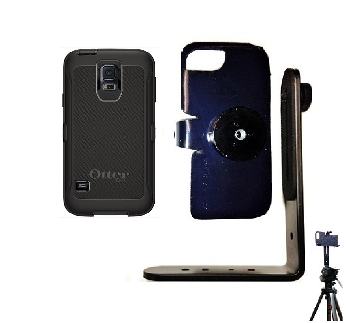 SlipGrip Tripod Mount For Samsung Galaxy S5 i9600 Using Otterbox Defender Case