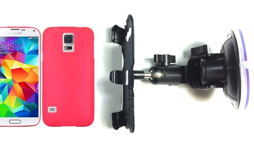 SlipGrip Car Holder For Samsung Galaxy S5 i9600 Using Hard & Rubber Hard Rubber Case DT