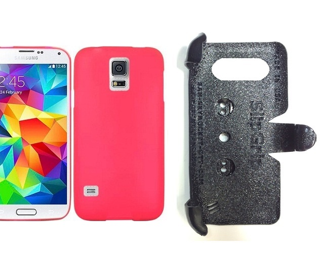SlipGrip PRO Mounts Holder For Samsung Galaxy S5 i9600 Using Hard & Rubber Hard Rubber Case