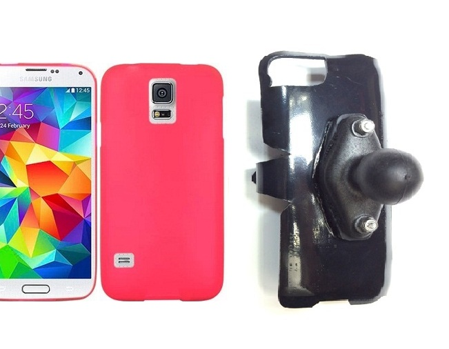 SlipGrip RAM Holder For Samsung Galaxy S5 i9600 Using Hard & Rubber Hard Rubber Case