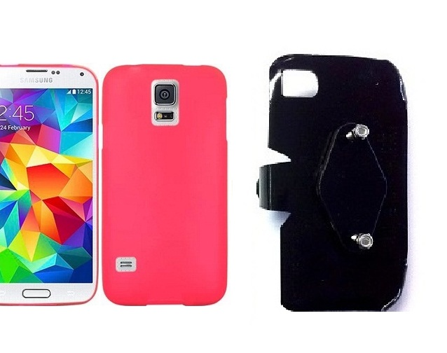 SlipGrip RAM-HOL Holder For Samsung Galaxy S5 i9600 Using Hard & Rubber Hard Rubber Case