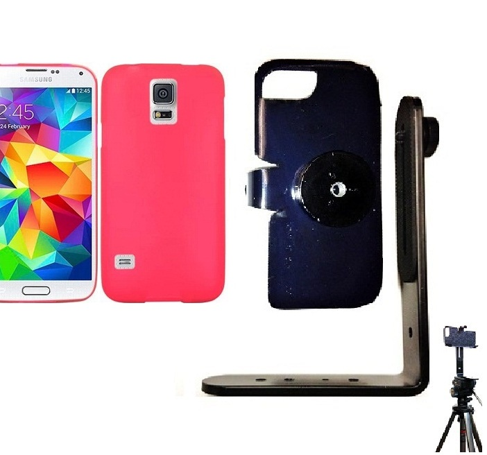 SlipGrip Tripod Mount For Samsung Galaxy S5 i9600 Using Hard & Rubber Hard Rubber Case
