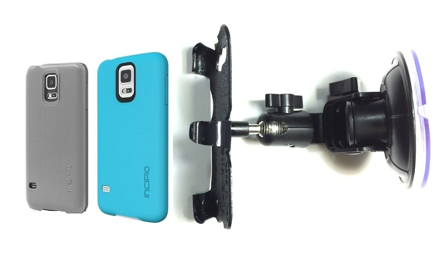 SlipGrip Car Holder For Samsung Galaxy S5 i9600 Using Incipio Using Feather Case DT