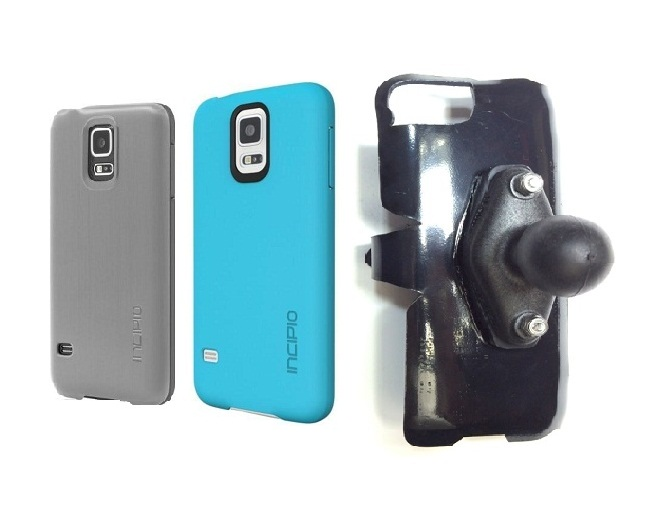 SlipGrip RAM Holder For Samsung Galaxy S5 i9600 Using Incipio Using Feather Case