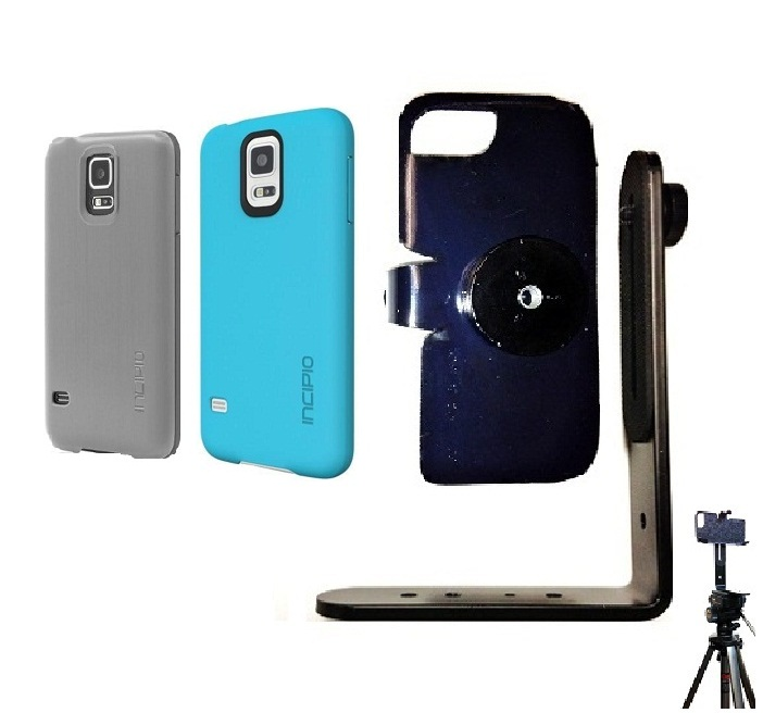SlipGrip Tripod Mount For Samsung Galaxy S5 i9600 Using Incipio Using Feather Case