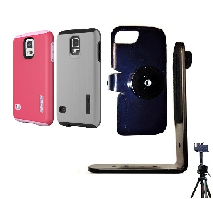 SlipGrip Tripod Mount For Samsung Galaxy S5 i9600 Using Incipio Using DualPro Shine Case