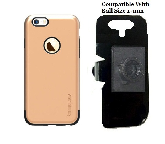 SlipGrip 17MM Holder For Apple iPhone 8 Plus Using ology Dual Layer Premium Armor TPU Case