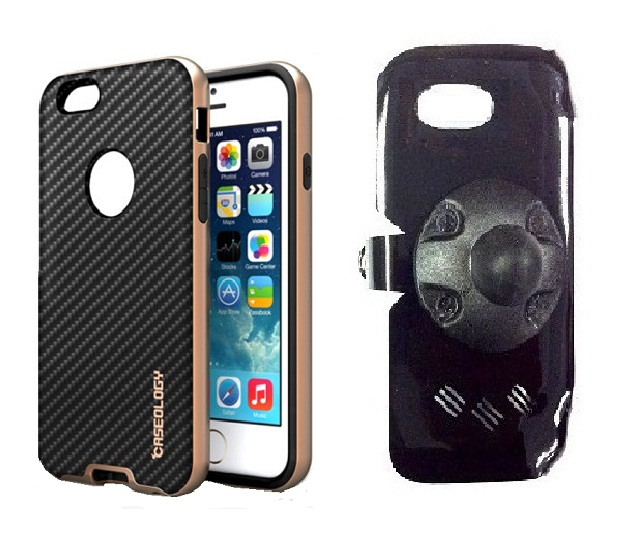 SlipGrip RAM Holder For Apple iPhone 8 Plus Using ology Leather Black TPU Bumper Frame Case