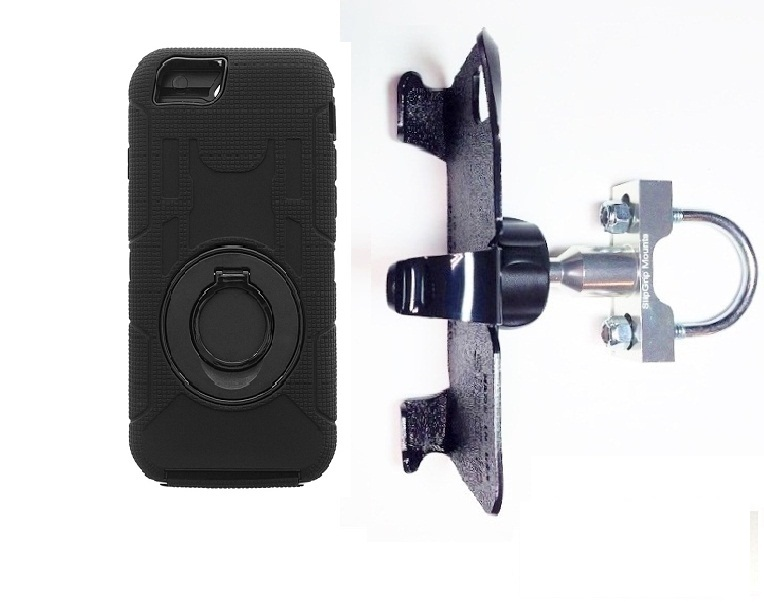 SlipGrip U-Bolt Bike Holder For Apple iPhone 8 Using Commander Case