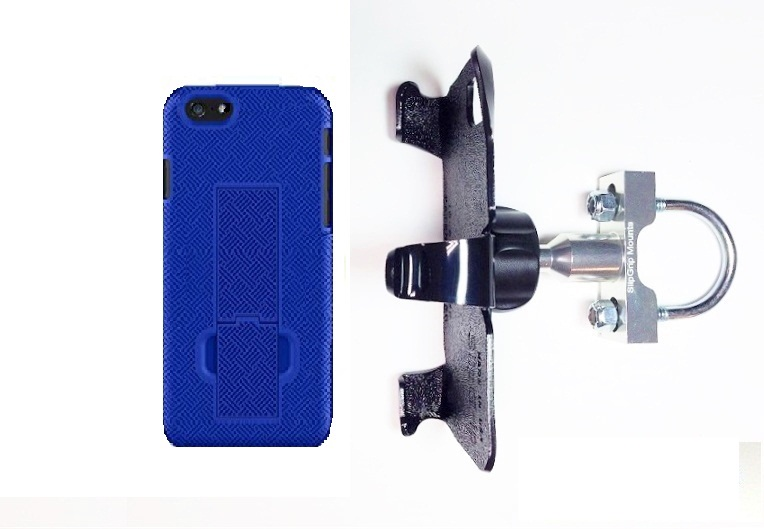 SlipGrip U-Bolt Bike Holder For Apple iPhone 8 Using Slim KickStand Shell Case