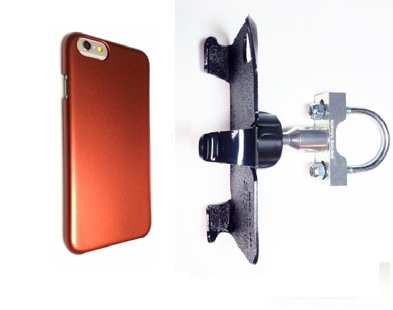 SlipGrip U-Bolt Bike Holder For Apple iPhone 8 Using Slim Snap-On Case