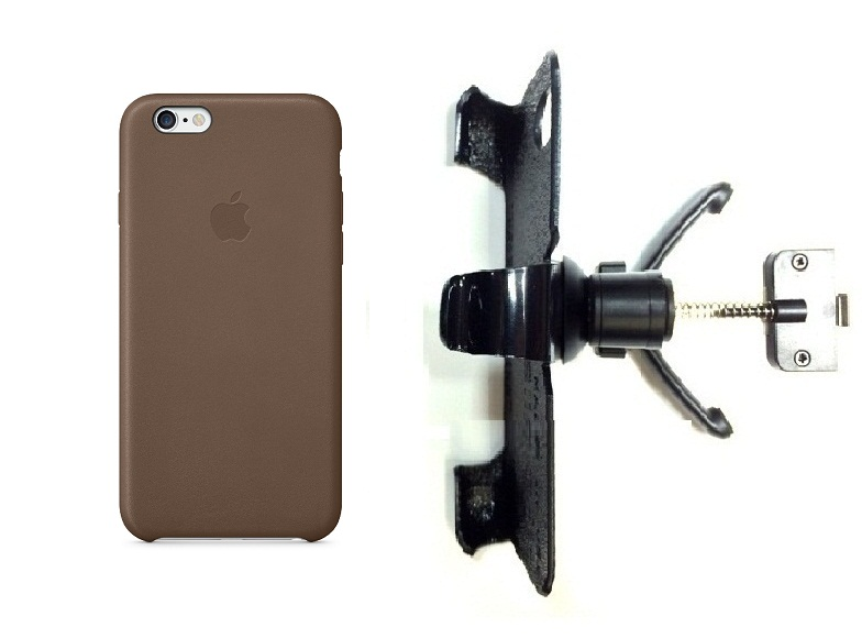 SlipGrip Vent Holder For Apple iPhone 8 Using Apple Authentic Leather Case