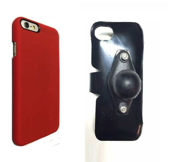 SlipGrip RAM Holder For Apple iPhone 8 Using Incipio FEATHER Snap-On Case