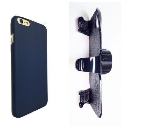 SlipGrip 22mm Ball Holder For Apple iPhone 8 Plus Using Incipio FEATHER Snap-On Case