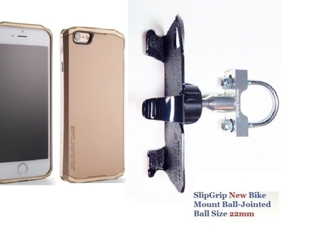 SlipGrip U-Bolt Bike Holder For Apple iPhone 8 Using Element Solace Case