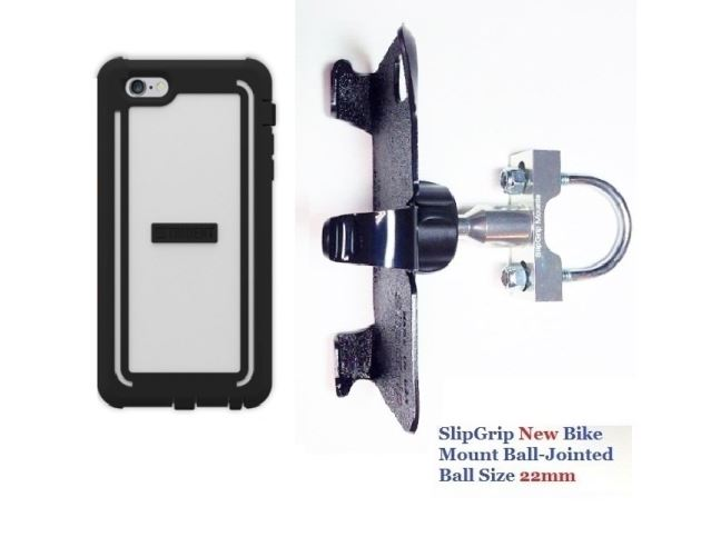 SlipGrip U-Bolt Bike Holder For Apple iPhone 8 Plus Using Trident Cyclops Case
