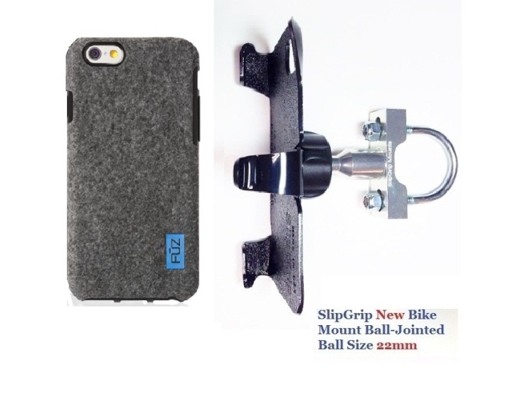 SlipGrip U-Bolt Bike Holder For Apple iPhone 8 Plus Using Felt FUZ Case