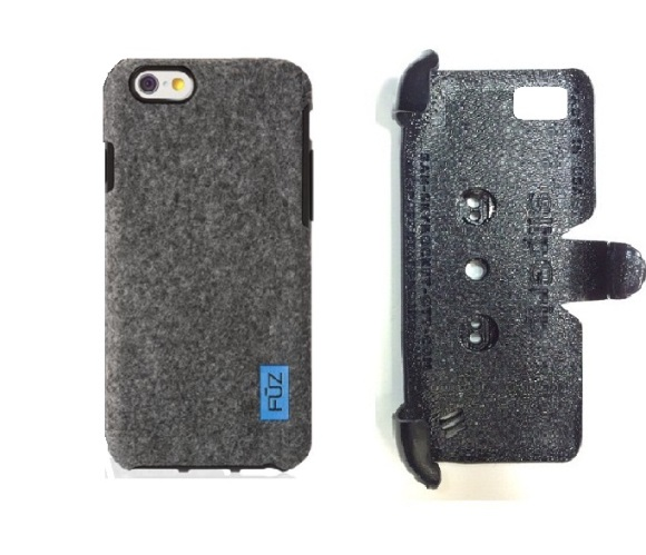 SlipGrip PRO Mounts Holder For Apple iPhone 8 Plus Using Felt FUZ Case