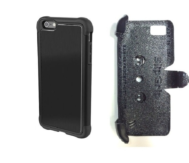 SlipGrip PRO Mounts Holder For Apple iPhone 8 Plus Using AGF Ballistic Tungsten Tough Case