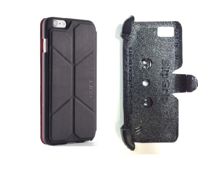 SlipGrip PRO Mounts Holder For Apple iPhone 8 Plus Using Element Soft-Tec Case