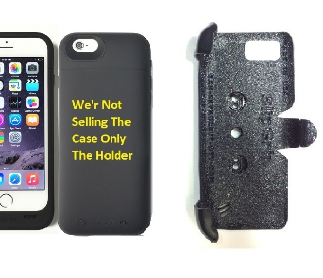 SlipGrip PRO Mounts Holder For Apple iPhone 8 Using Mophie Juice Pack Plus Case