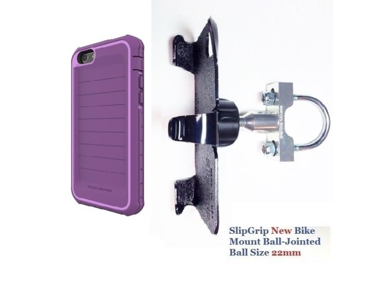 SlipGrip U-Bolt Bike Holder For Apple iPhone 8 Using Body Glove ShockSuit Case