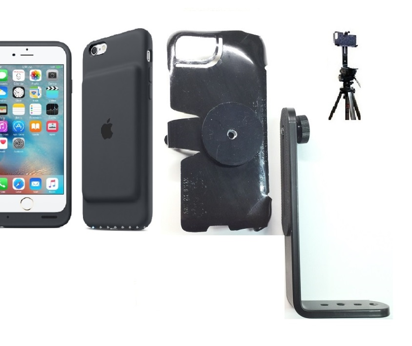 SlipGrip Tripod Mount For Apple iPhone 8 Using Apple Smart Battery Case