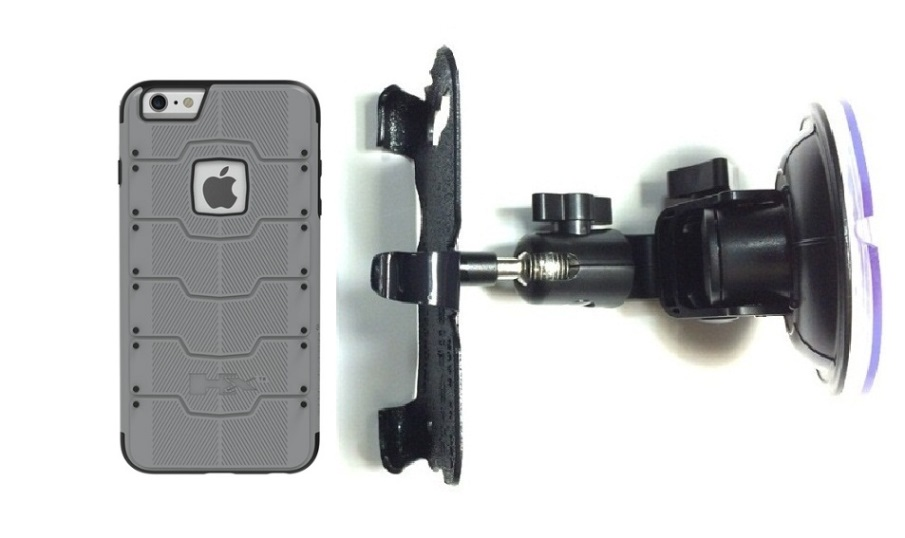 SlipGrip Car Holder For Apple iPhone 8 Using Hummer HX PRO Case DT