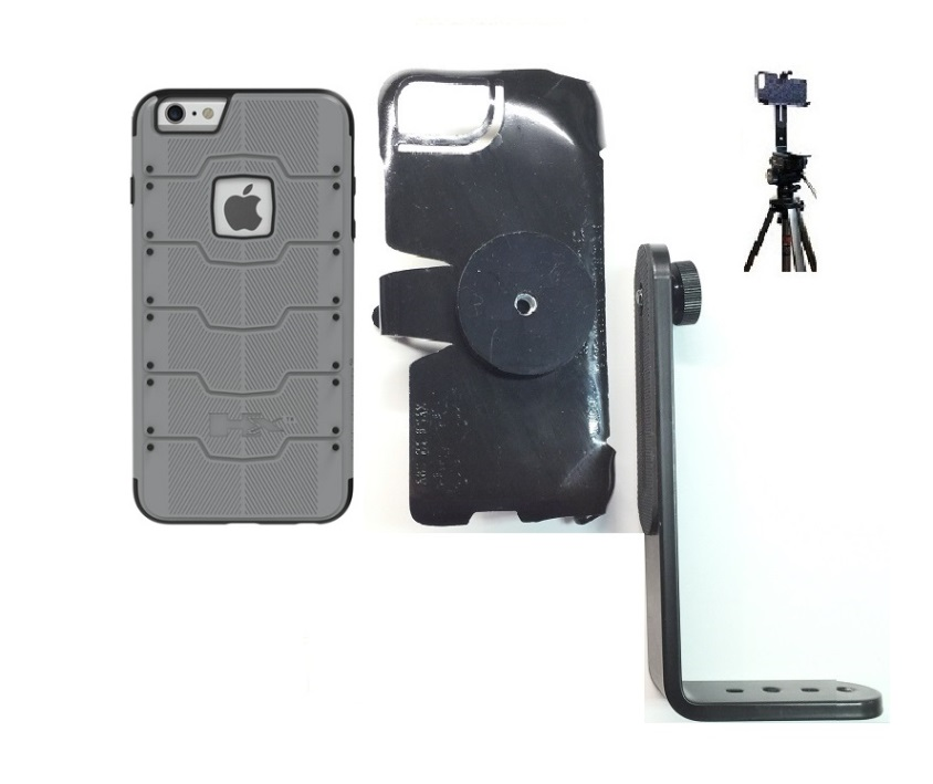 SlipGrip Tripod Mount For Apple iPhone 8 Using Hummer HX PRO Case