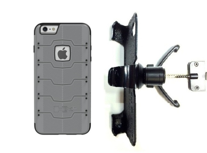 SlipGrip Vent Holder For Apple iPhone 8 Using Hummer HX PRO Case