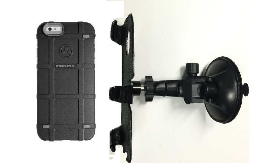 SlipGrip Car Holder For Apple iPhone 8 Using Magpul Bump Case LP