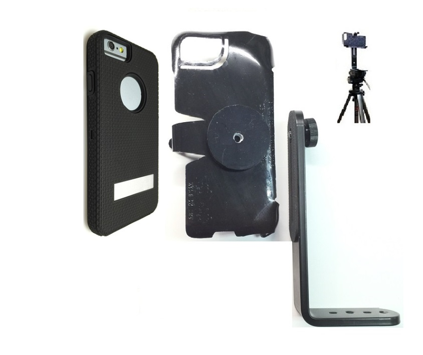 SlipGrip Tripod Mount For Apple iPhone 8 Using Hummer KickBoxer Case