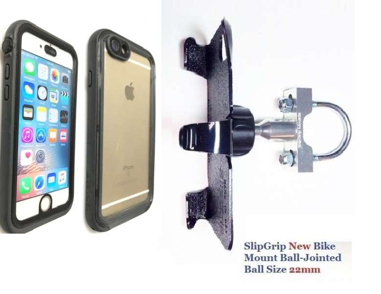 SlipGrip U-Bolt Bike Holder For Apple iPhone 8 Using Catalyst Waterproof Case