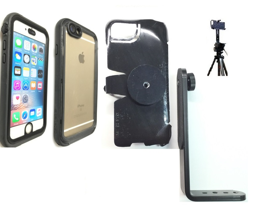 SlipGrip Tripod Mount For Apple iPhone 8 Using Catalyst Waterproof Case
