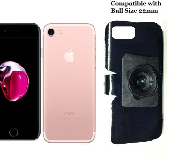 SlipGrip 22mm Ball Holder For Apple iPhone 8 Naked Using No Case On