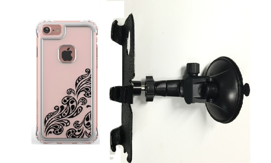 SlipGrip Car Holder For Apple iPhone 8 Using Ballistic Jewel Essence Series Case LP