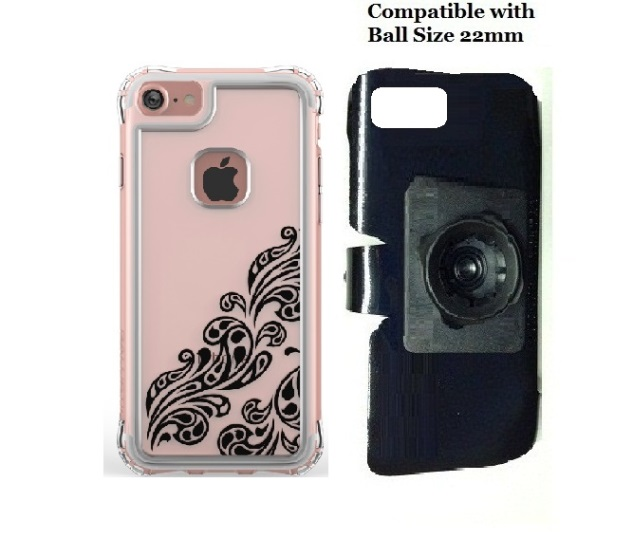 SlipGrip 22mm Ball Holder For Apple iPhone 8 Using Ballistic Jewel Essence Series Case