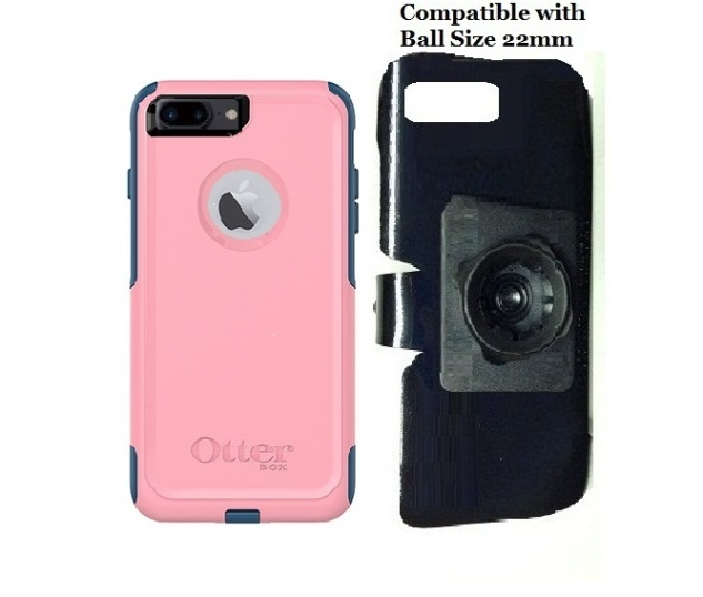 SlipGrip 22mm Ball Holder For Apple iPhone 8 Plus Using OtterBox Commuter Case